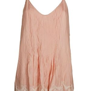 Sanctuary Pink Blossom Reese Embroidered Slip Dres